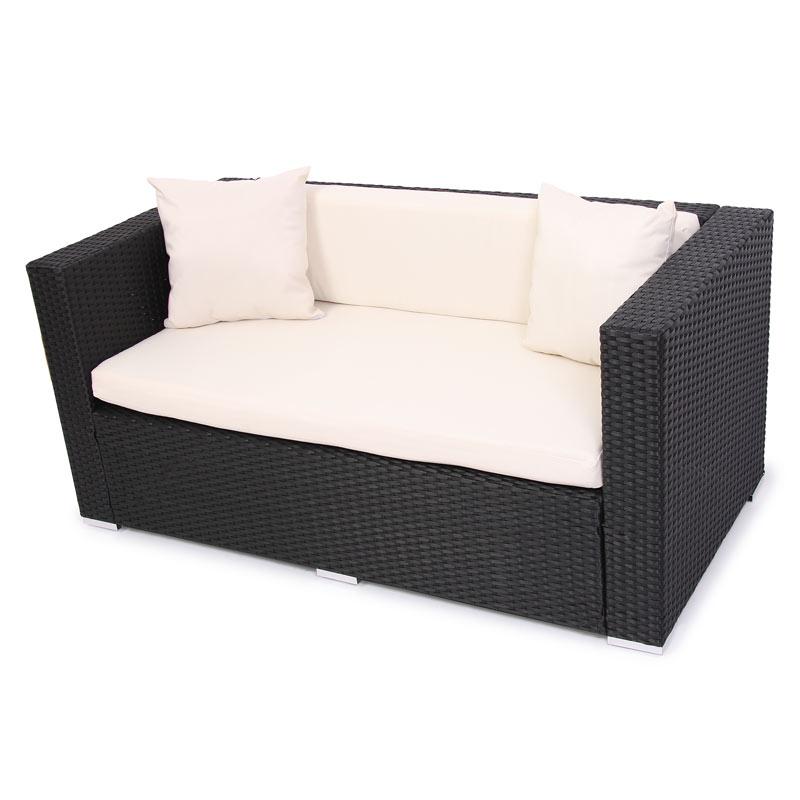 modulares poly rattan alu sofa romv anthrazit ebay. Black Bedroom Furniture Sets. Home Design Ideas