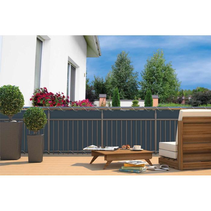 balkonsichtschutz he24 balkonverkleidung windschutz sichtschutz 6m anthrazit. Black Bedroom Furniture Sets. Home Design Ideas