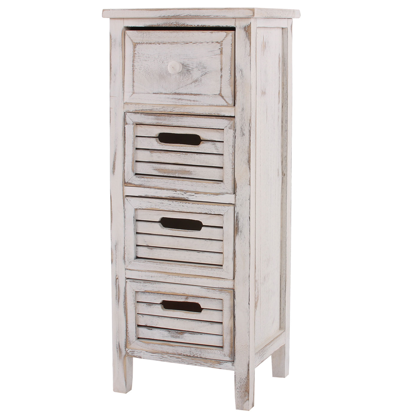 schrank kommode 74x30x25cm shabby look vintage wei. Black Bedroom Furniture Sets. Home Design Ideas