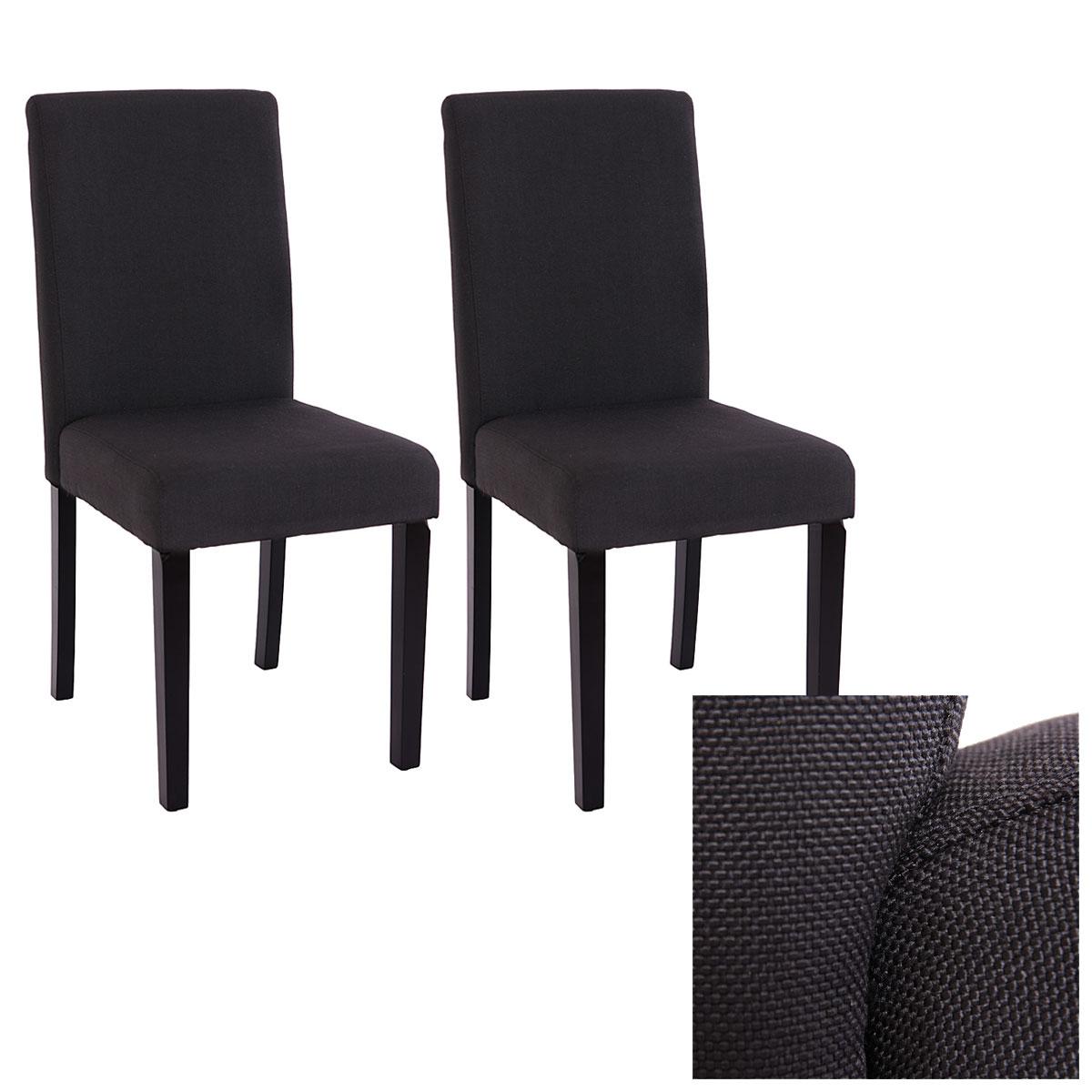 2x esszimmerstuhl stuhl lehnstuhl littau textil schwarz for Stuhl 4 beine