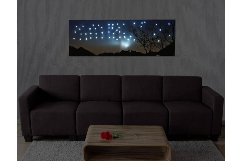 led bild mit beleuchtung leinwandbild leuchtbild wandbild 100x35cm sonnenuntergang. Black Bedroom Furniture Sets. Home Design Ideas