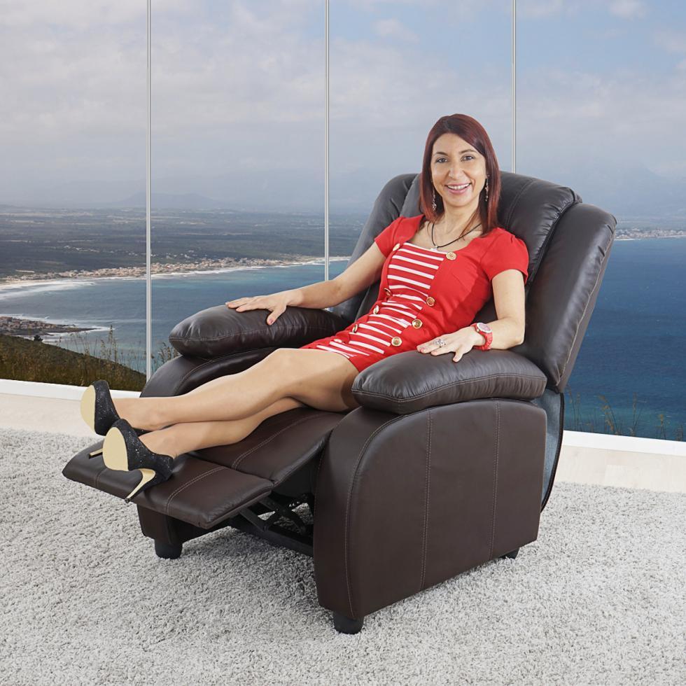 fernsehsessel relaxsessel liege sessel glasgow kunstleder coffee ebay. Black Bedroom Furniture Sets. Home Design Ideas