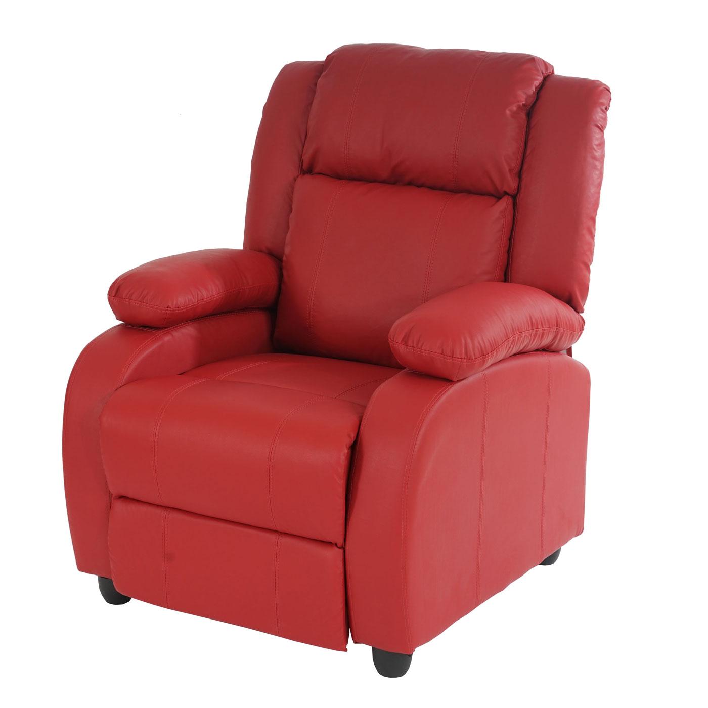 fernsehsessel relaxsessel liege lincoln kunstleder schwarz coffee rot creme ebay. Black Bedroom Furniture Sets. Home Design Ideas