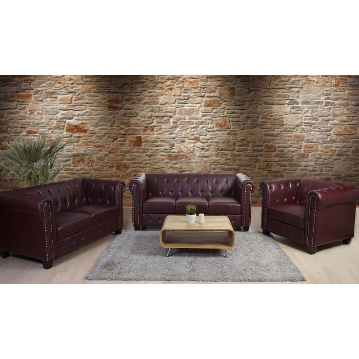Luxus 3 2 1 Sofagarnitur Couchgarnitur Loungesofa Chesterfield