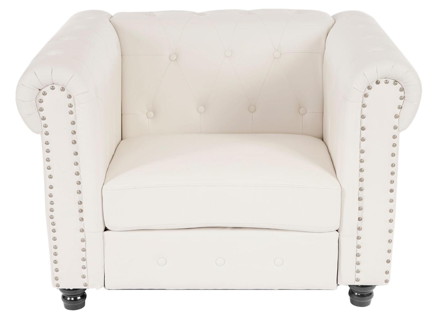 luxus sessel loungesessel relaxsessel chesterfield kunstleder runde f e wei. Black Bedroom Furniture Sets. Home Design Ideas