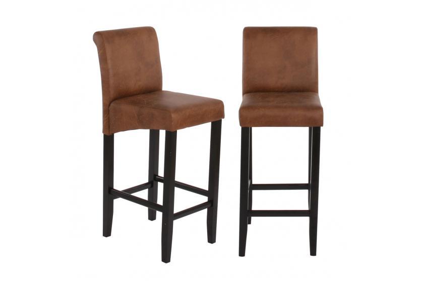 2x barhocker barstuhl hwc c33 wildlederimitat dunkle. Black Bedroom Furniture Sets. Home Design Ideas