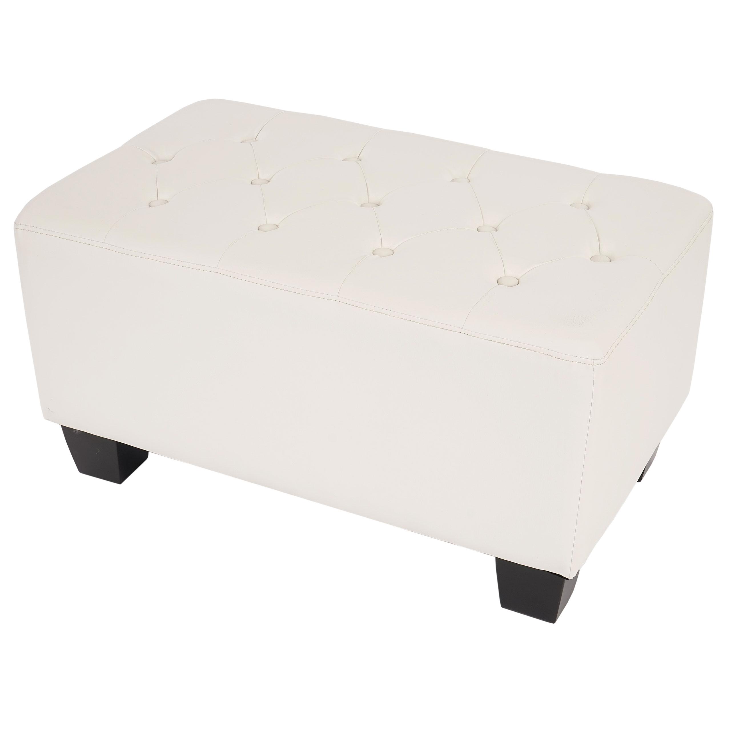 Luxus 3er Sofa Loungesofa Couch Chesterfield Edinburgh Kunstleder ~ eckige Füße, braun
