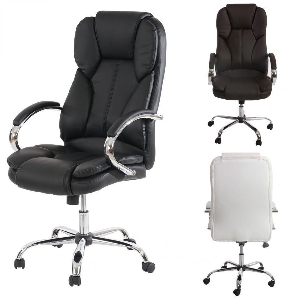 XXL Bürostuhl 150 kg belastbar weiß Kunstleder Chefsessel Massagefunktion
