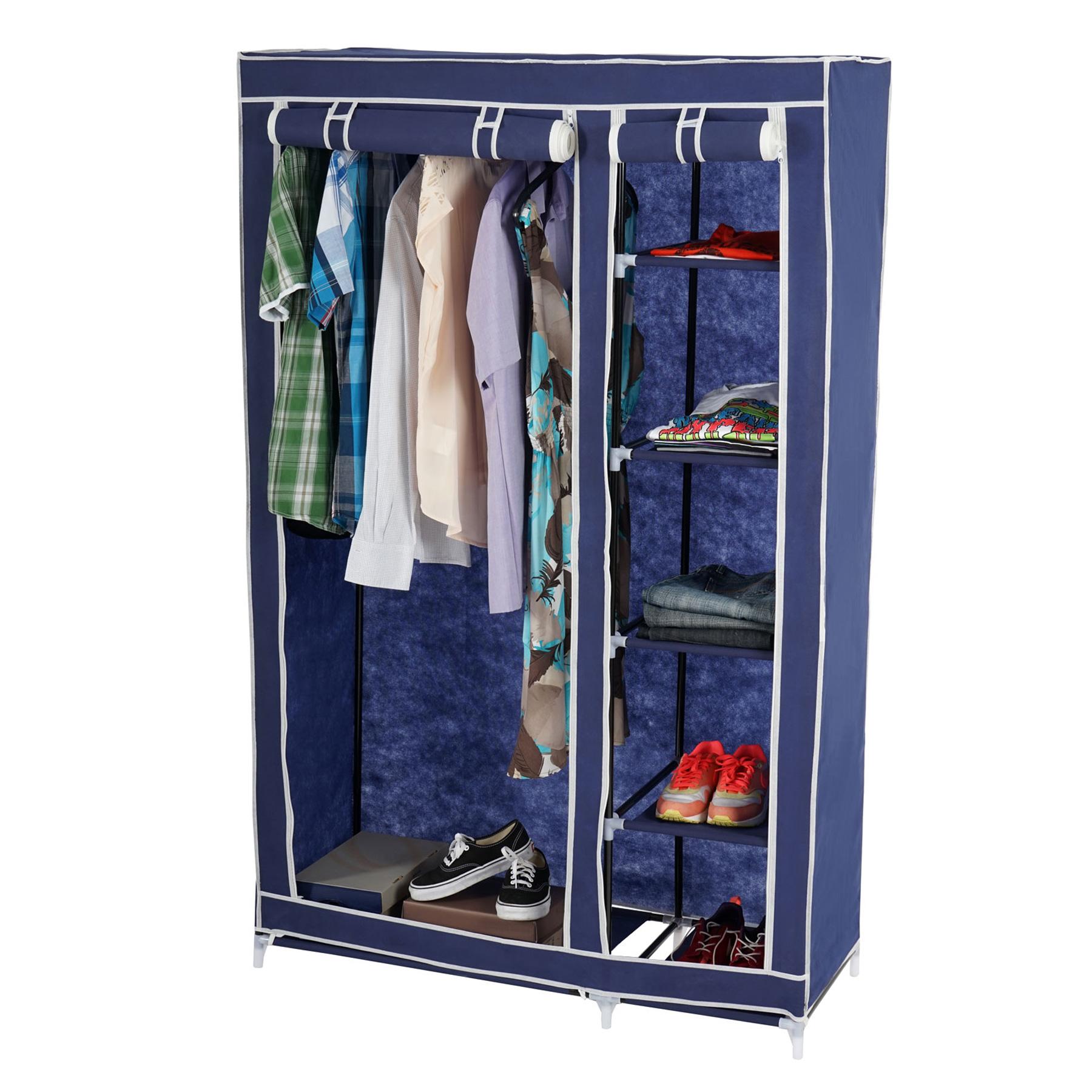 rot blau creme Faltschrank Campingschrank Stoffschrank Kleiderschrank