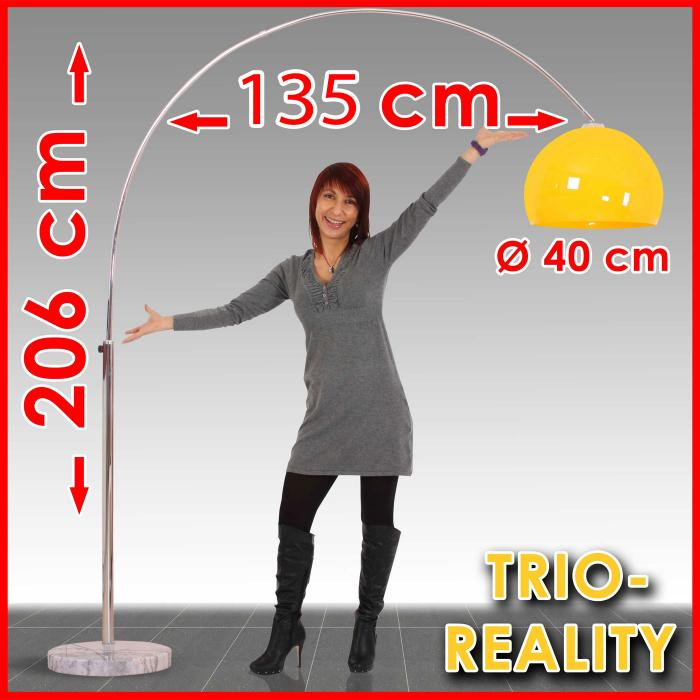 Reality|Trio ogenlampe Lounge Deal, Höhe: 2,06m, Schirm: 40cm ~ orange