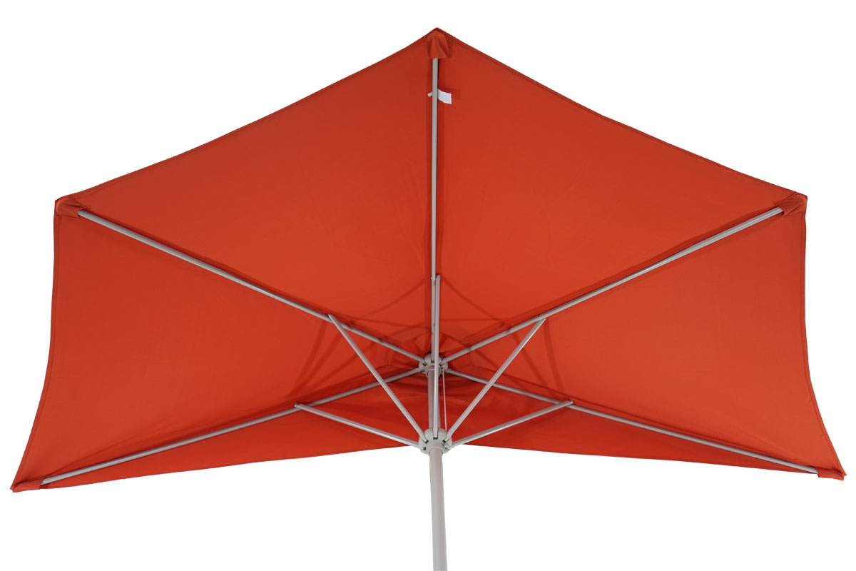 demi parasol aluminium parla pour balcon ip 50 285cm terracotta avec pied ebay. Black Bedroom Furniture Sets. Home Design Ideas