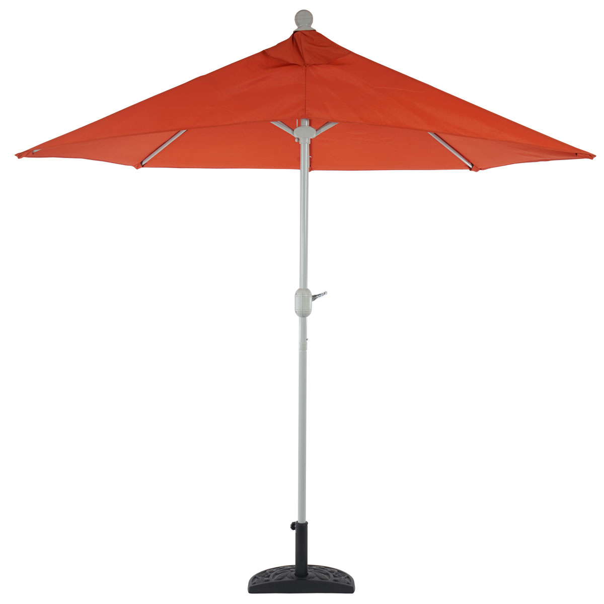Demi parasol aluminium parla pour balcon ip 50 285cm terracotta avec pied ebay - Demi parasol balcon ...