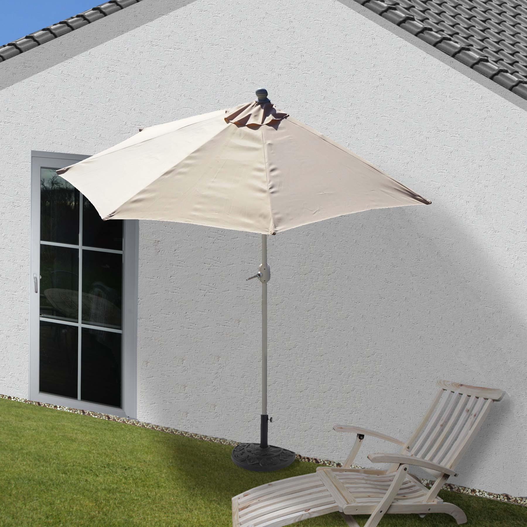 Gußoptik Schirmständer Sonnenschirmfuß Sonnenschirmständer halbrund Lorca