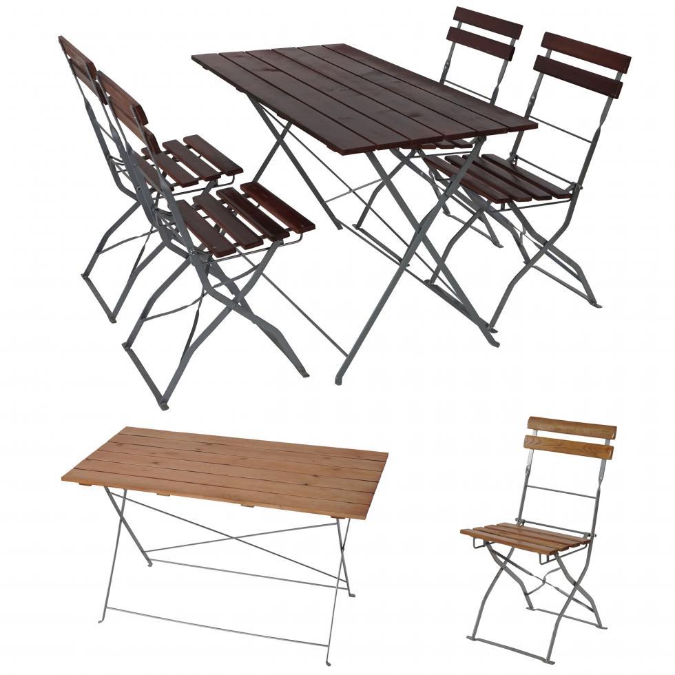 Détails sur Biergarten-Garnitur Berlin, Garten-Garnitur, Table 4x ou 2x  Chaise