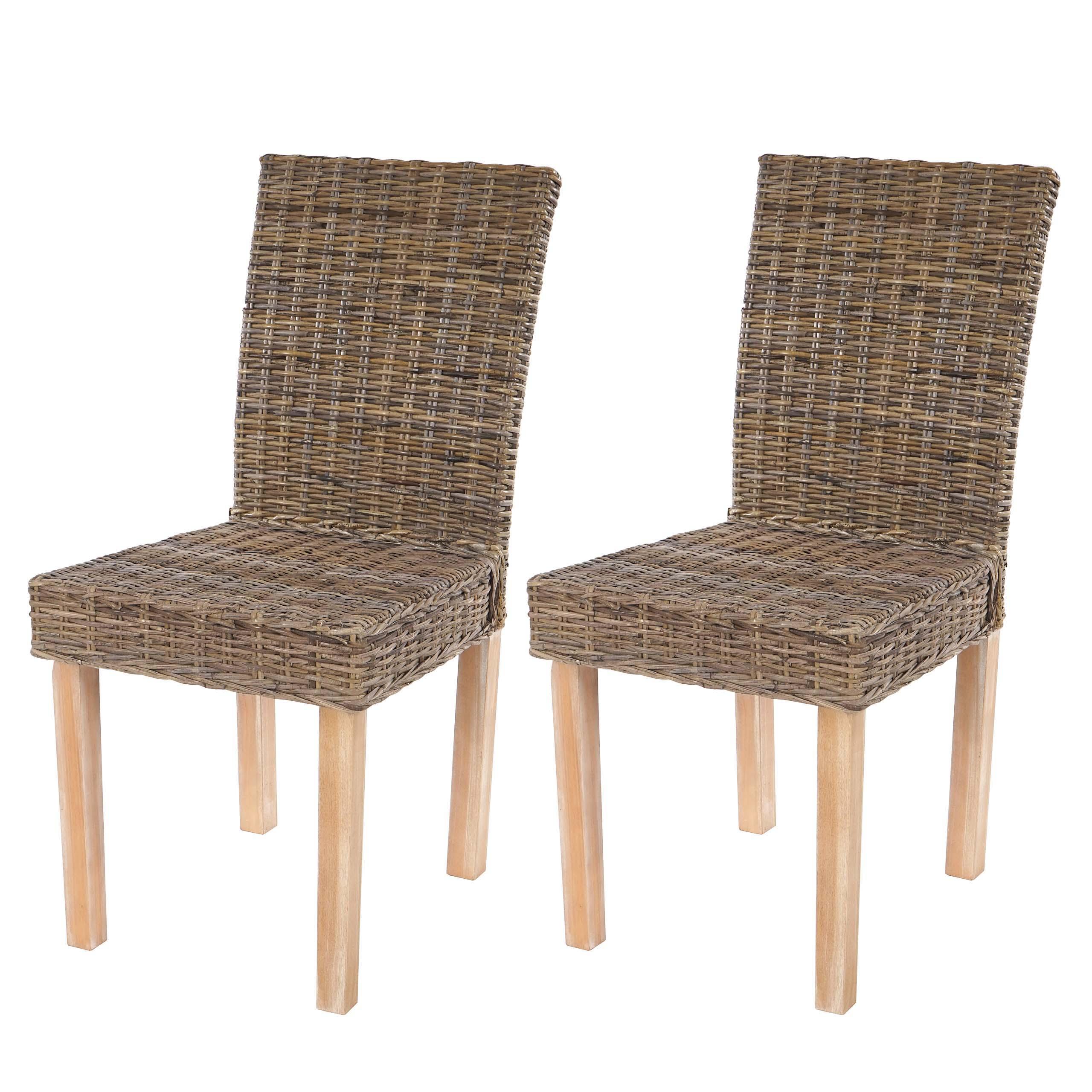 2x esszimmerstuhl littau korbstuhl stuhl lehnstuhl kubu for Chaise salle a manger en kubu