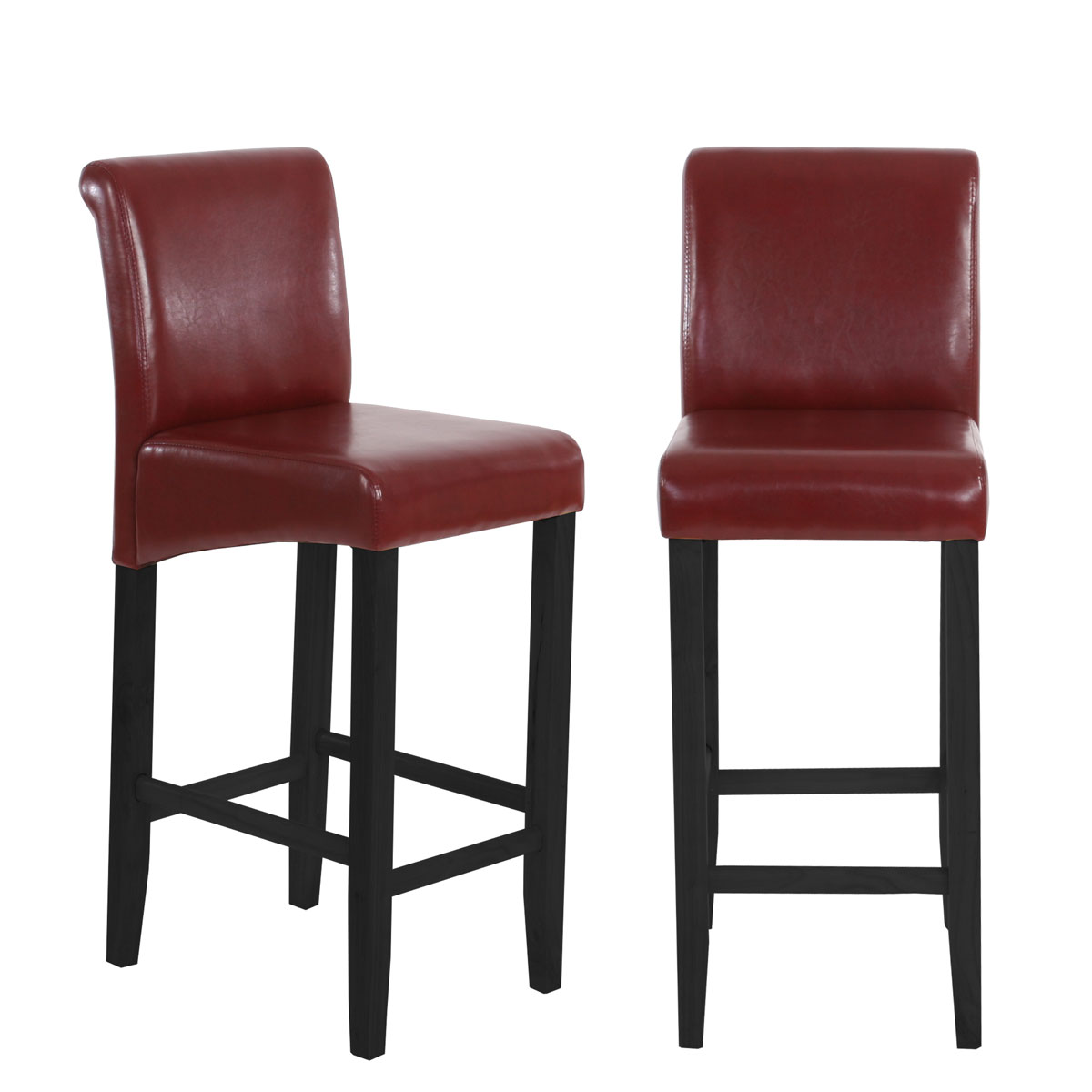 2x barhocker hwc c33 barstuhl tresenhocker mit lehne leder kunstleder textil ebay. Black Bedroom Furniture Sets. Home Design Ideas