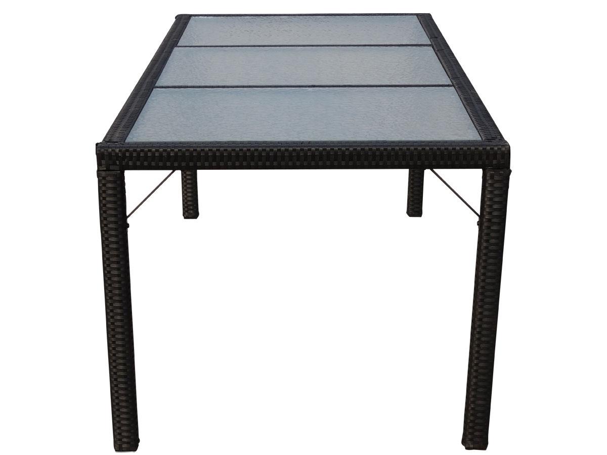 Poly Rattan Gartentisch Damiette Tisch Esszimmertisch 190x90cm