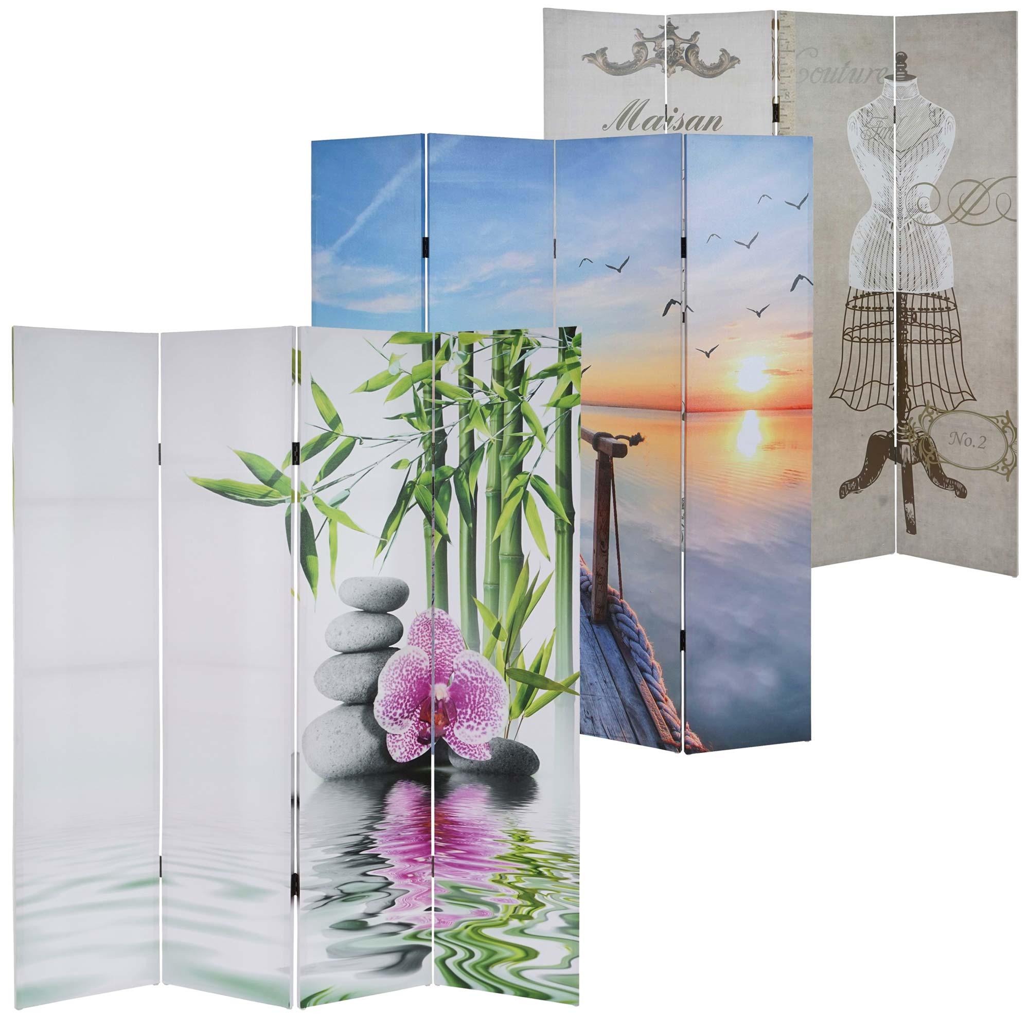 Mendler Foto-Paravent T234, Paravent Raumteiler Spanische Wand 180x160cm ~ Variantenangebot 35987