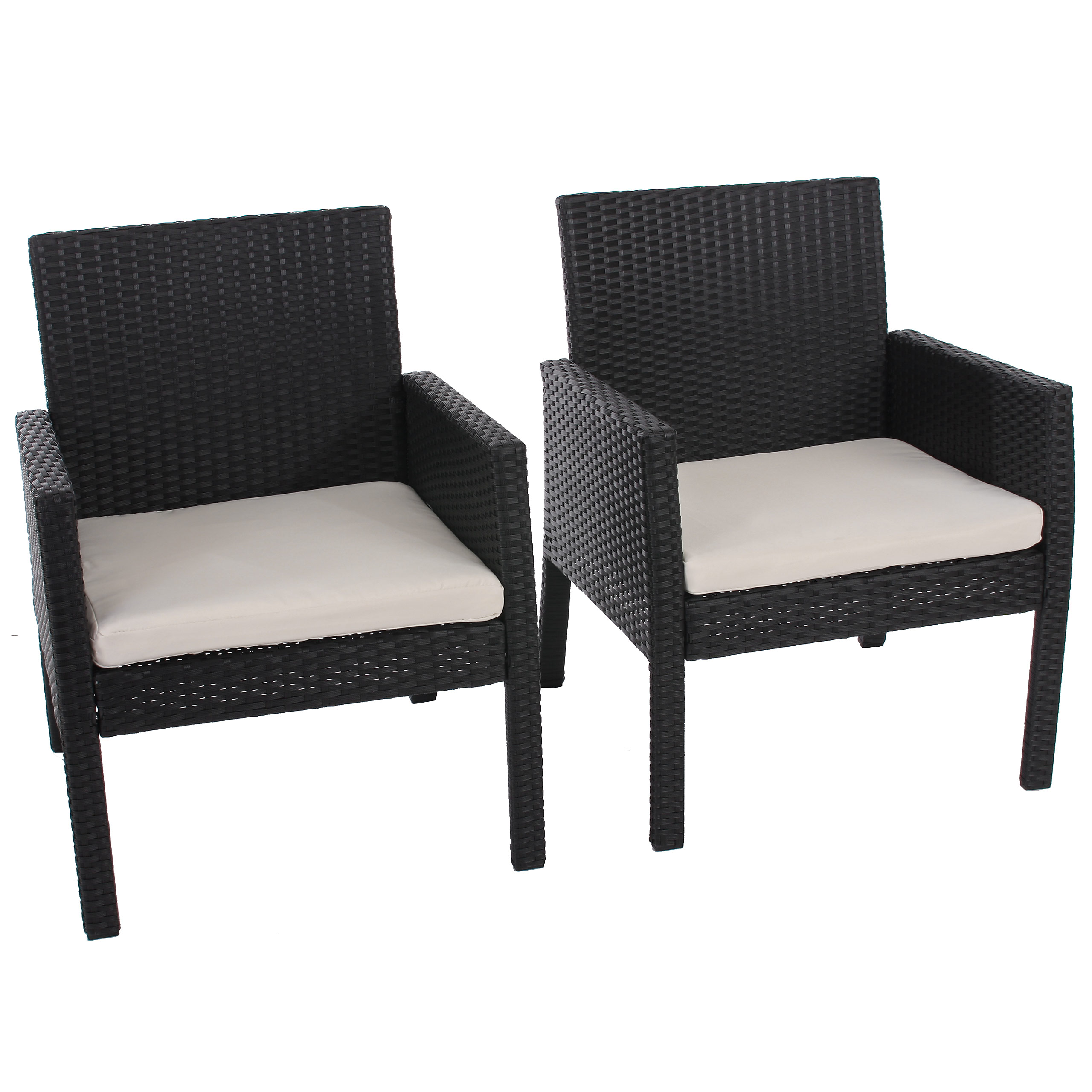 2x poly rattan sessel gartensessel sanremo inkl. Black Bedroom Furniture Sets. Home Design Ideas