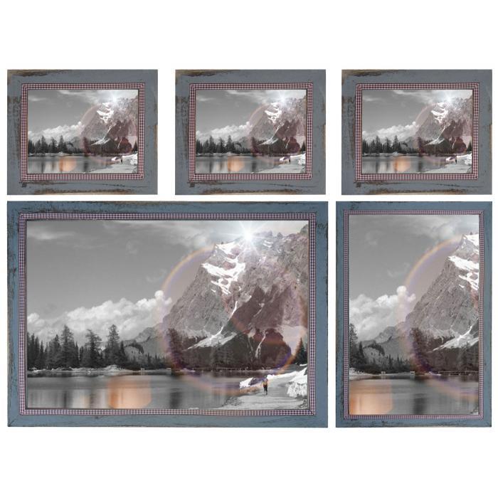 Bilderrahmen Set, Fotorahmen Holzrahmen, 3x 19x24cm 1x 26x36cm 1x ...