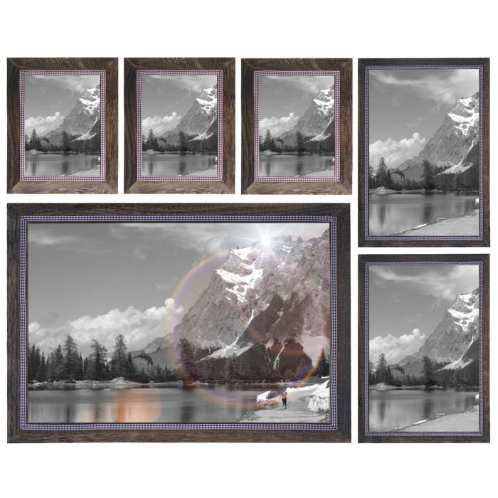 Bilderrahmen Set, Fotorahmen Holzrahmen, 3x 21x26cm 2x 26x36cm 1x ...