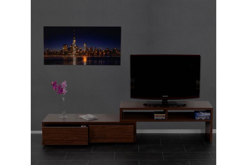 led bild mit beleuchtung timer 100x50cm flackernd one world trade center ebay. Black Bedroom Furniture Sets. Home Design Ideas