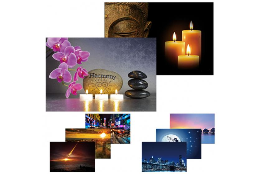 2x led bild mit beleuchtung leinwandbild leuchtbild wandbild 60x40cm timer. Black Bedroom Furniture Sets. Home Design Ideas