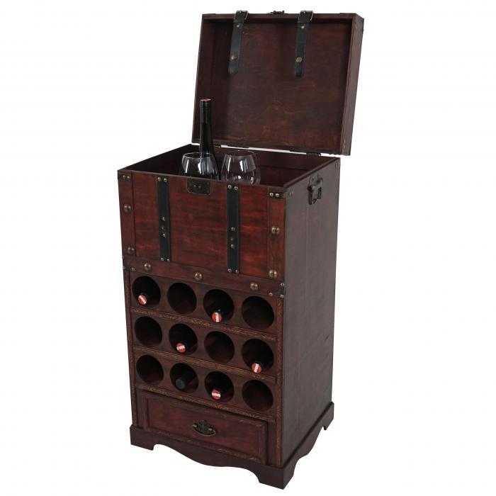 Sitzbank Kolonialstil calvados t251 flaschenregal regal holzregal für 12 flaschen