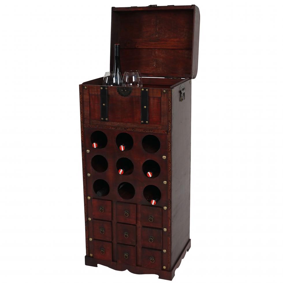 Weinregal Calvados T253 Regal Holzregal Für 9 Flaschen