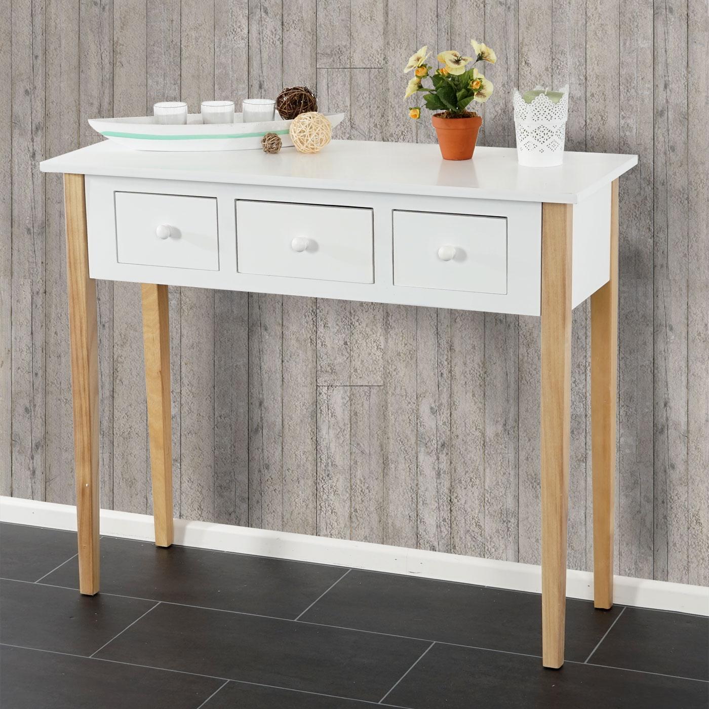 kommode malm t266 beistelltisch schrank retro design 77x90x34cm blau wei ebay. Black Bedroom Furniture Sets. Home Design Ideas