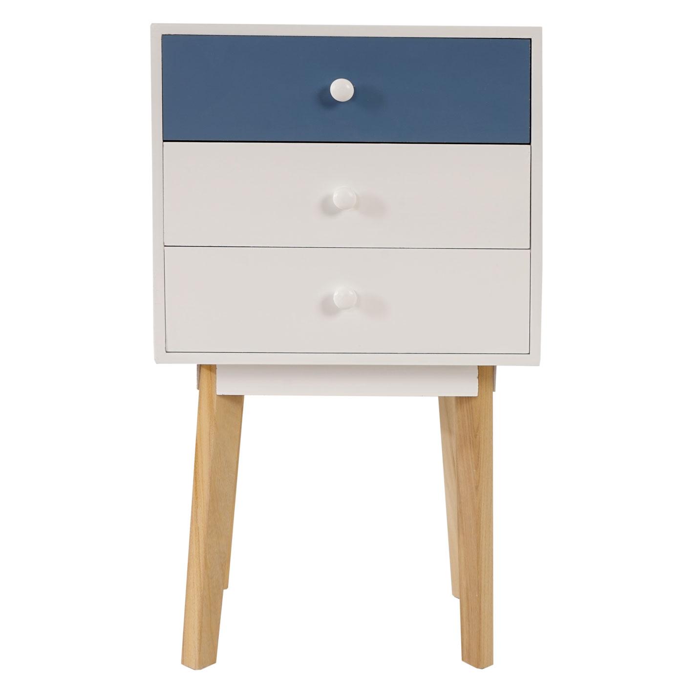 kommode vaasa t270 beistelltisch schrank retro design 70x40x30cm blau ebay. Black Bedroom Furniture Sets. Home Design Ideas