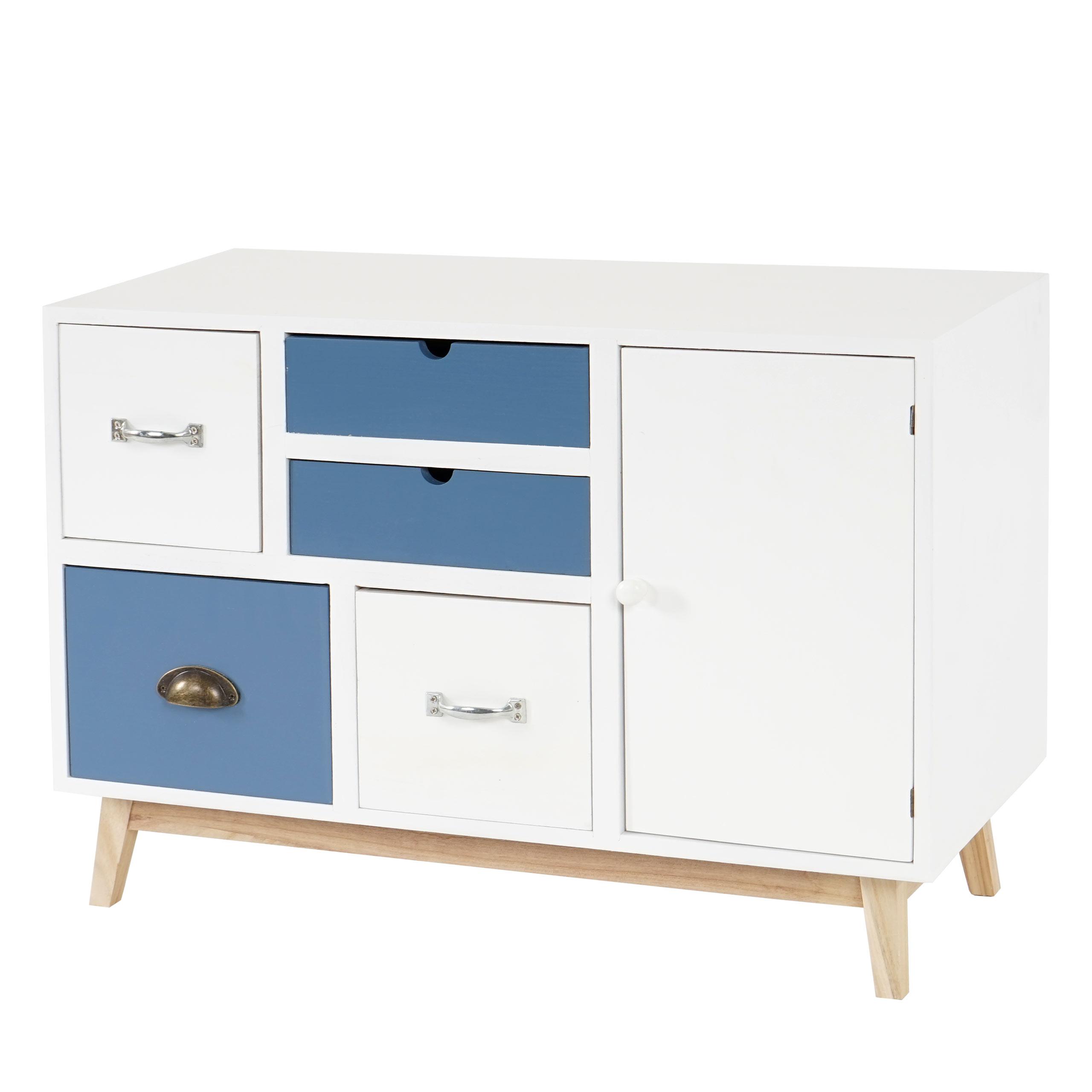 kommode vaasa t273 sideboard schrank patchwork retro design 58x81x34cm ebay. Black Bedroom Furniture Sets. Home Design Ideas
