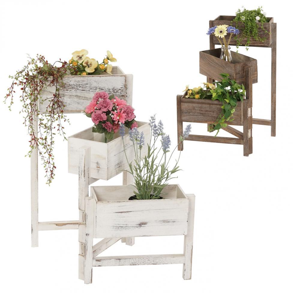 pflanzregal standregal blumenst nder h he 65cm shabby. Black Bedroom Furniture Sets. Home Design Ideas