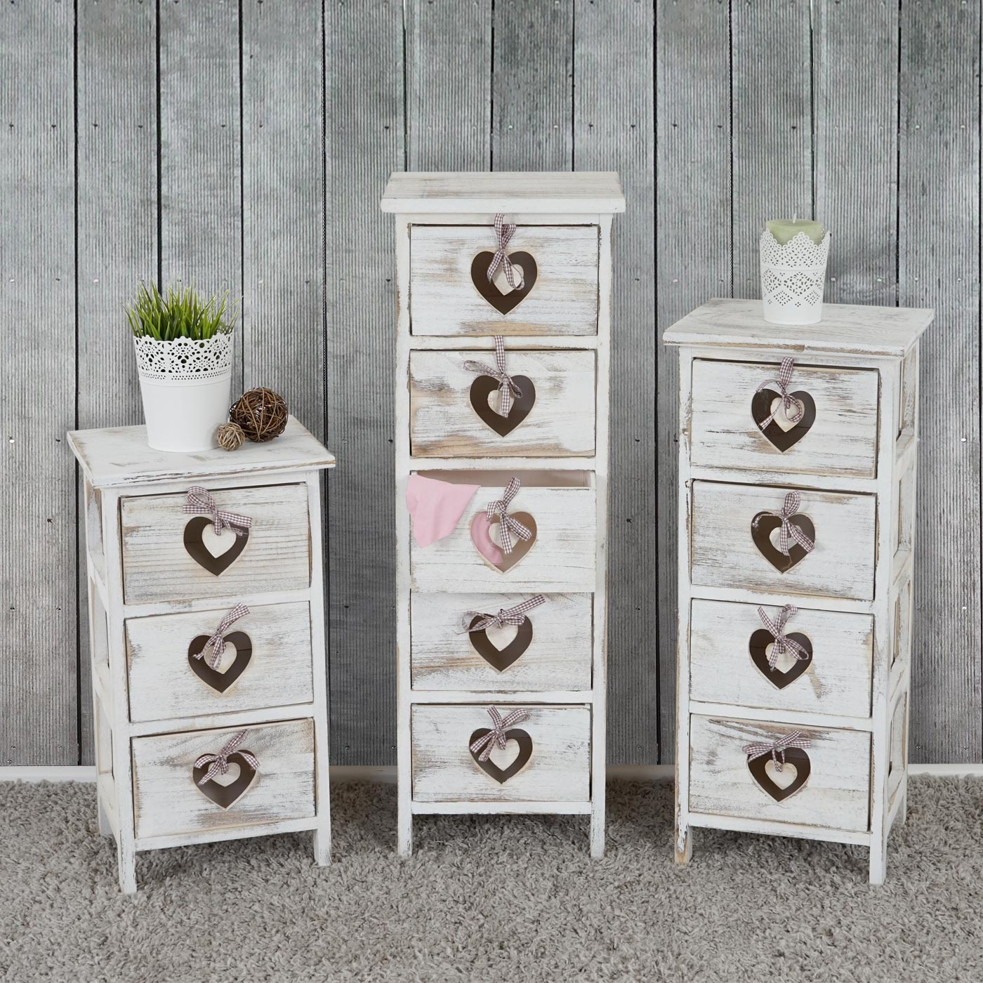 kommode forli schubladenkommode schrank shabby look vintage wei. Black Bedroom Furniture Sets. Home Design Ideas