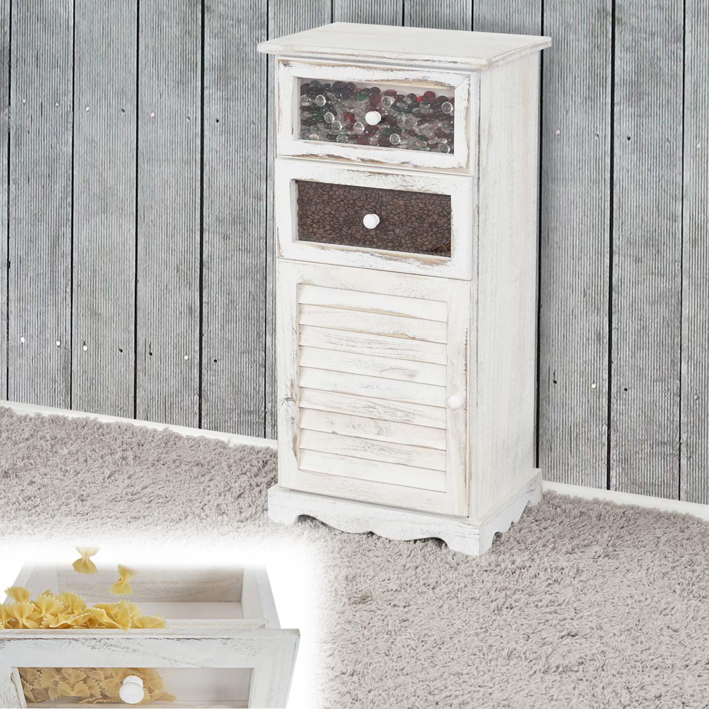 kommode asti schrank schaufenster schublade shabby look vintage 82x40x31cm wei. Black Bedroom Furniture Sets. Home Design Ideas