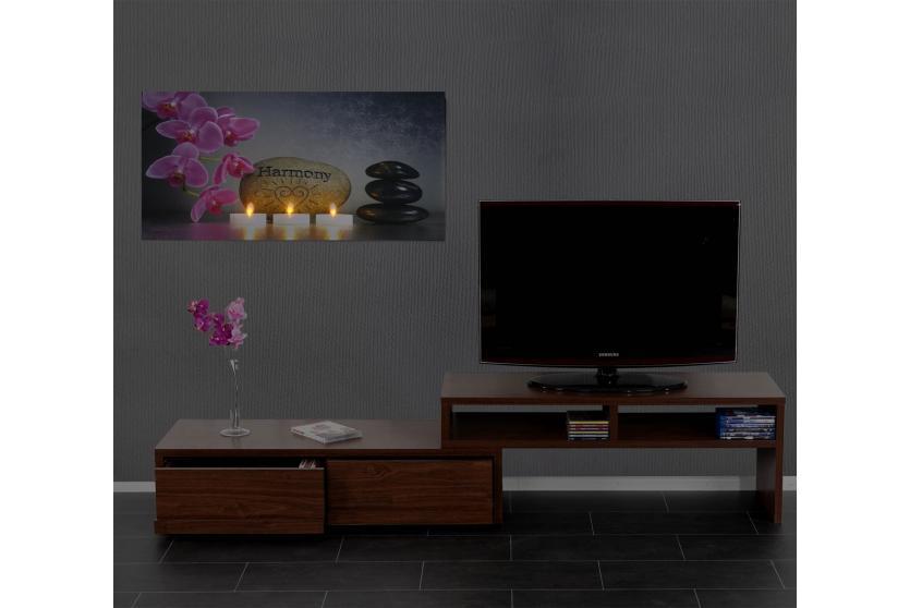 led bild mit beleuchtung leinwandbild timer 110x55cm. Black Bedroom Furniture Sets. Home Design Ideas