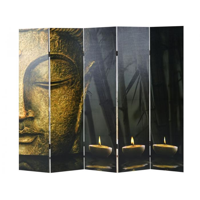 foto paravent buddha paravent raumteiler trennwand. Black Bedroom Furniture Sets. Home Design Ideas