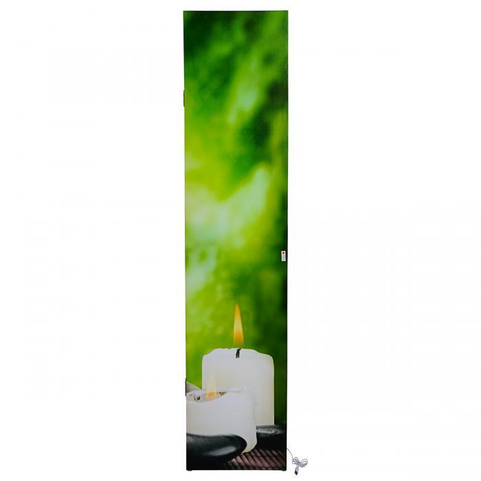 Trennwand Timer netzbetrieben 180x160cm 2 LEDs LED-Paravent Stones