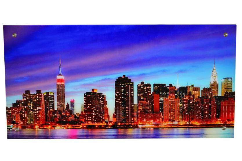 glasbild t115 wandbild poster motiv 50x100cm new york. Black Bedroom Furniture Sets. Home Design Ideas