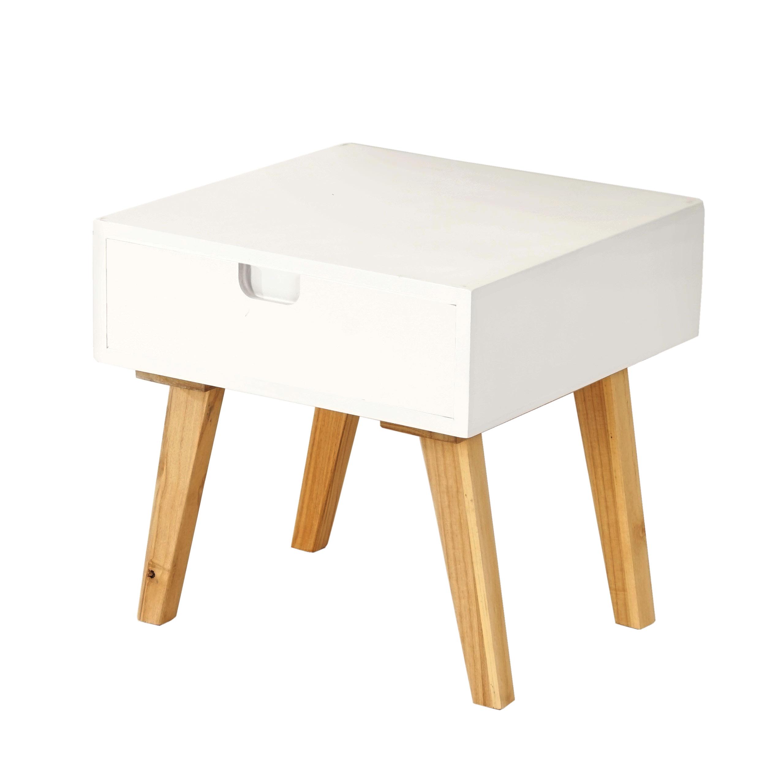 kommode malm t255 beistelltisch schrank retro design 40x40x40cm wei e front. Black Bedroom Furniture Sets. Home Design Ideas