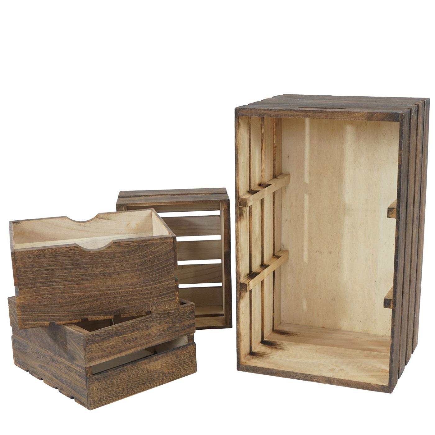 kommode tournai schubladenkommode holzkiste shabby look vintage 53x31x26cm braun. Black Bedroom Furniture Sets. Home Design Ideas