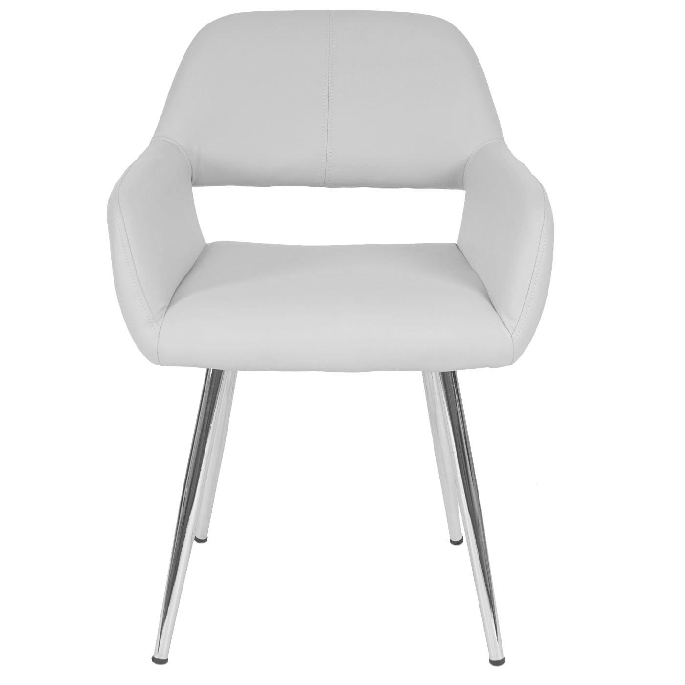 esszimmerstuhl hwc a50 stuhl lehnstuhl retro kunstleder wei. Black Bedroom Furniture Sets. Home Design Ideas