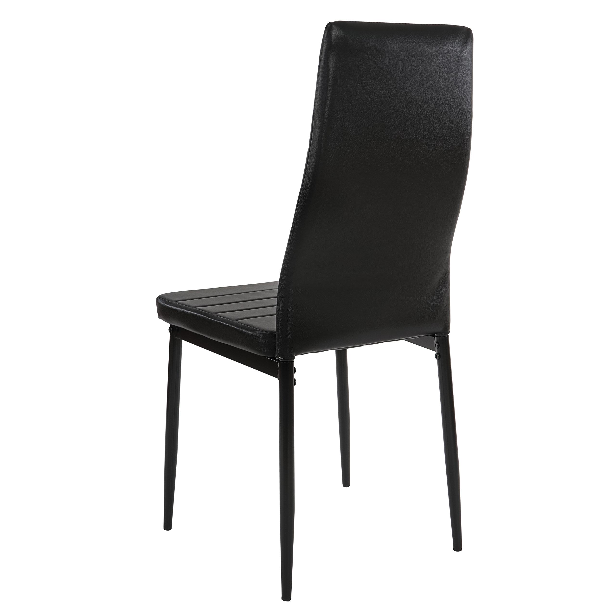 2x esszimmerstuhl lixa stuhl lehnstuhl kunstleder schwarz. Black Bedroom Furniture Sets. Home Design Ideas