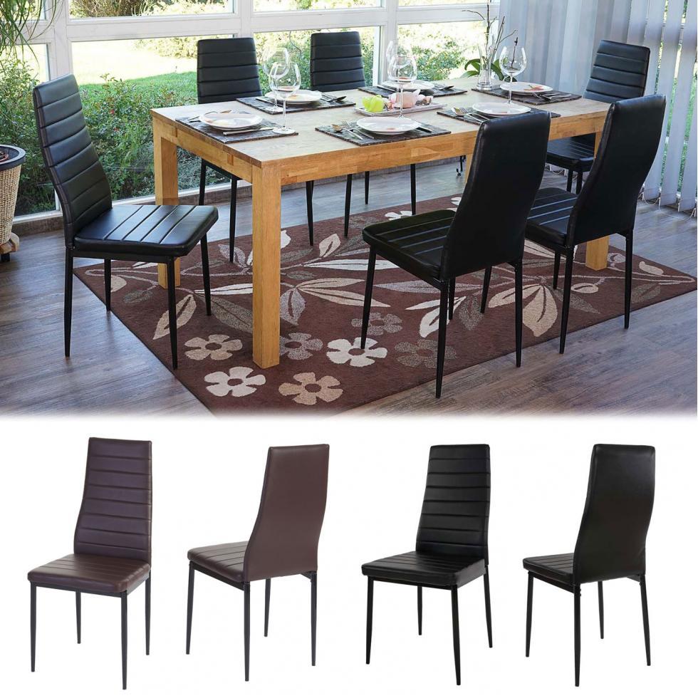 6x esszimmerstuhl lixa stuhl lehnstuhl kunstleder ebay. Black Bedroom Furniture Sets. Home Design Ideas