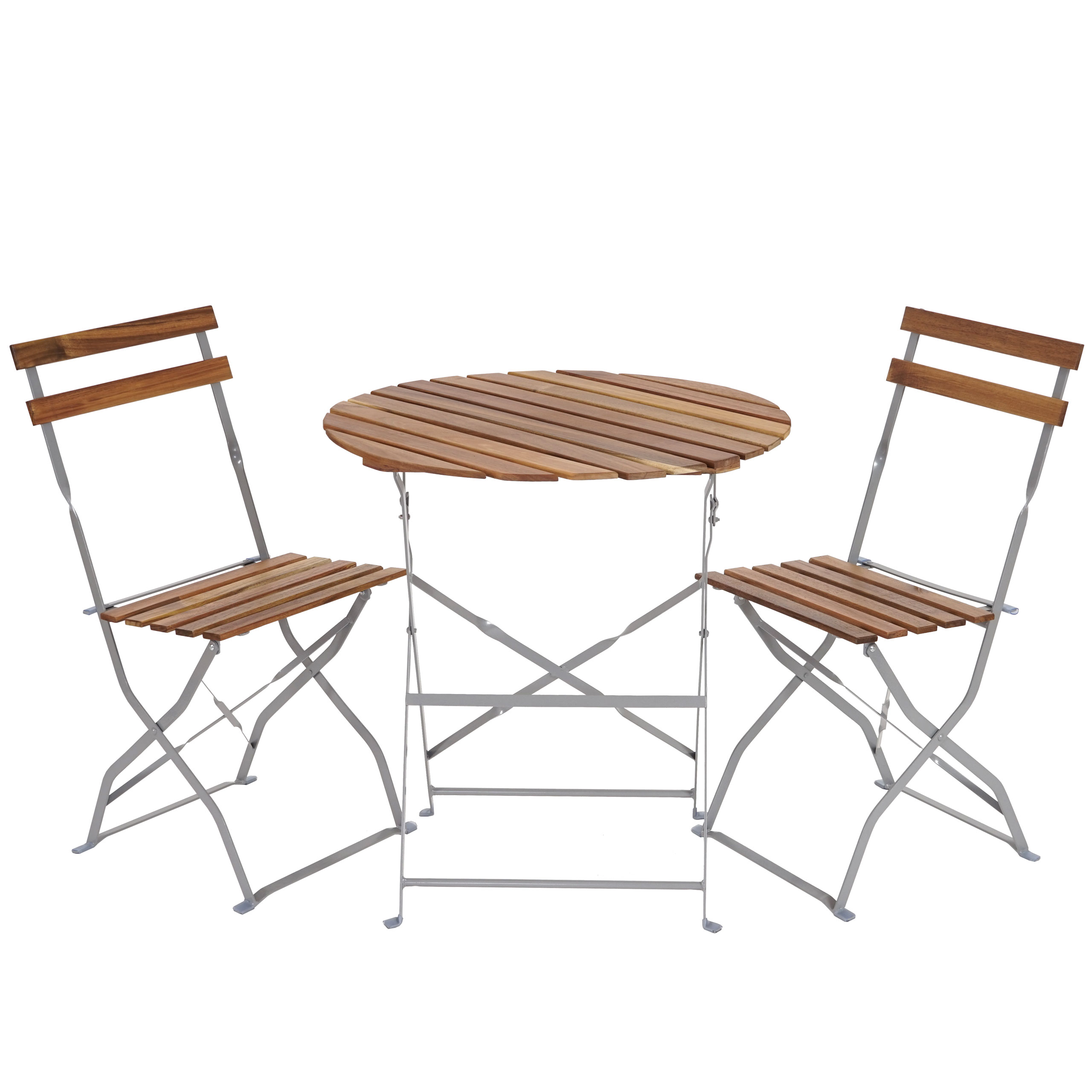 biergarten garnitur meran bistro set tisch st hle akazie ge lt natur ebay. Black Bedroom Furniture Sets. Home Design Ideas