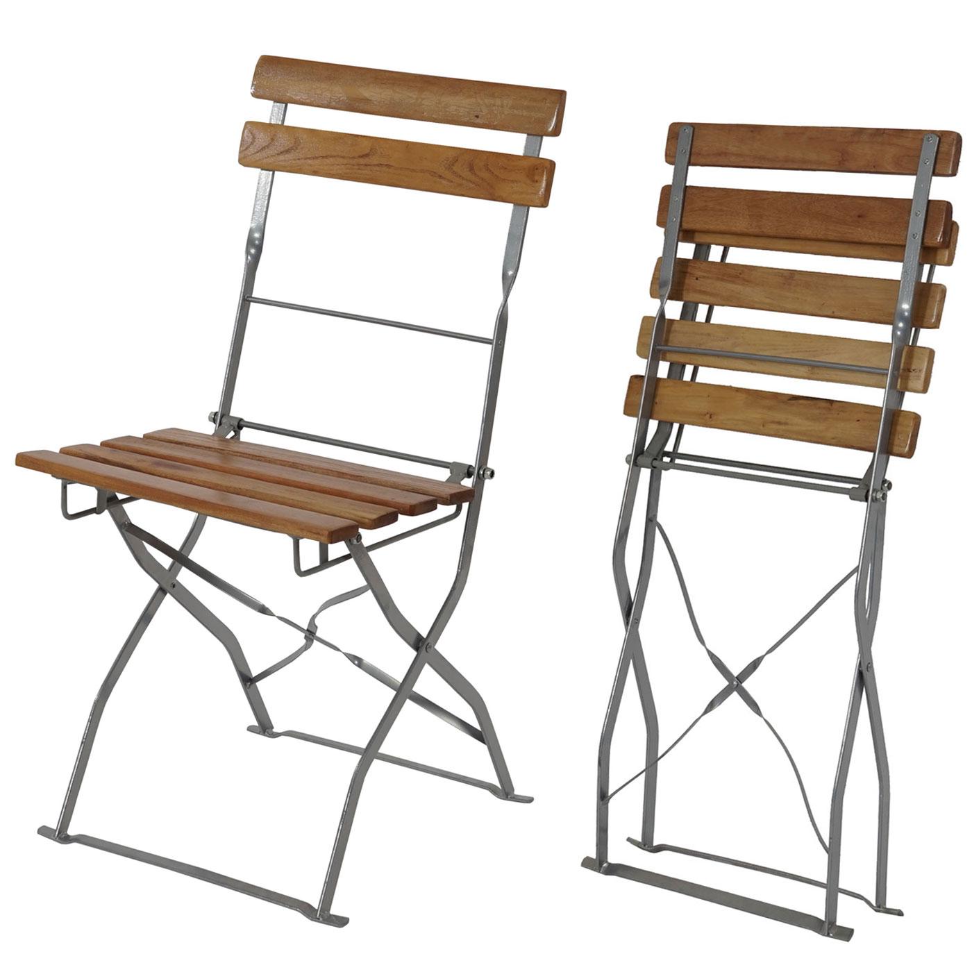2x biergartenstuhl berlin klappstuhl gartenstuhl akazie lackiert natur. Black Bedroom Furniture Sets. Home Design Ideas
