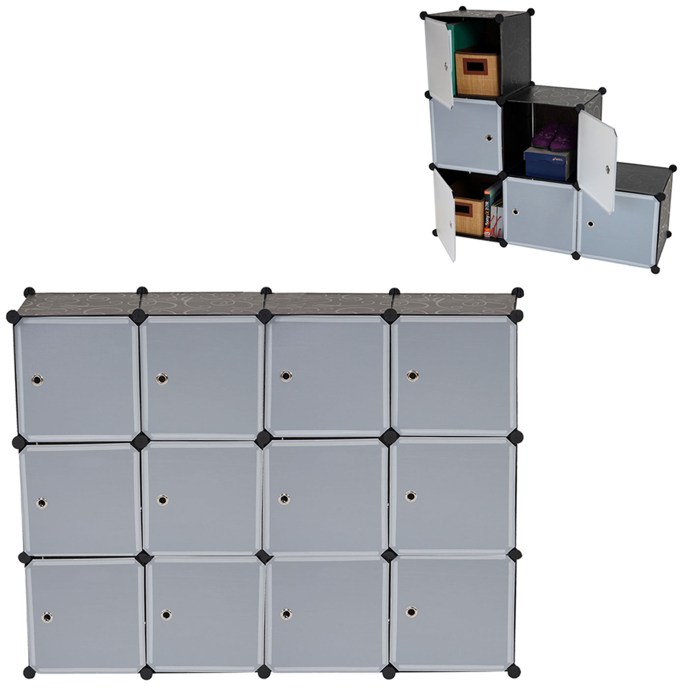 regalsystem sydney t307 steckregal schrank aufbewahrung je box 36x36x36cm ebay. Black Bedroom Furniture Sets. Home Design Ideas