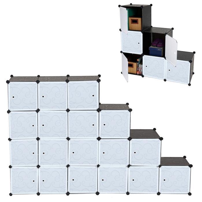 Regalsystem Sydney T307, Steckregal Schrank Aufbewahrung, 18 Boxen ...