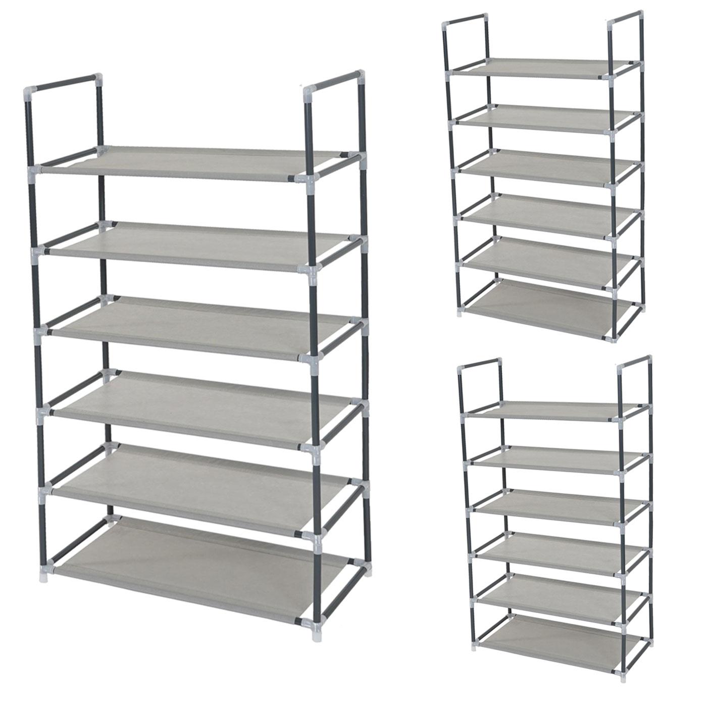 3er set schuhregal br gge schuhablage schuhst nder steckregal je 6 ebenen f r 12 paar schuhe. Black Bedroom Furniture Sets. Home Design Ideas