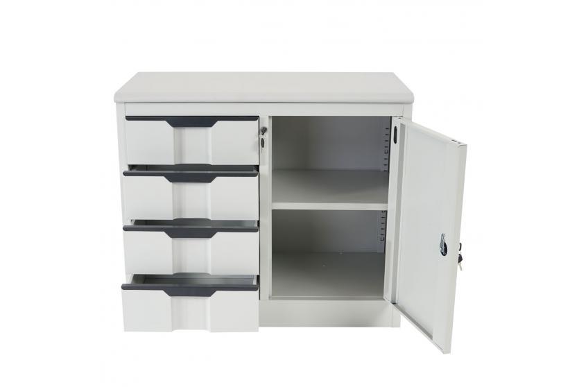 aktenschrank boston t310 b roschrank metallschrank 4 schubladen t r 70x80x42cm ebay. Black Bedroom Furniture Sets. Home Design Ideas
